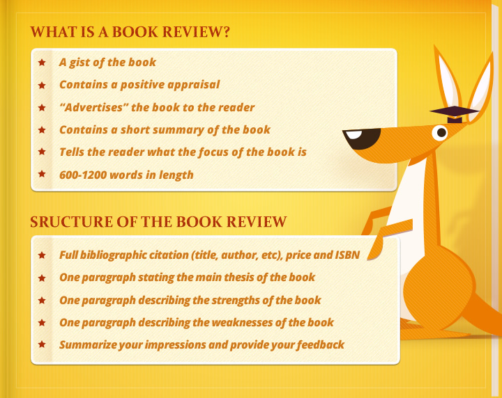 OzEssay: a step by step explanation of what a book review is.